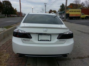 Honda Accord gets Charcoal Taillight Film